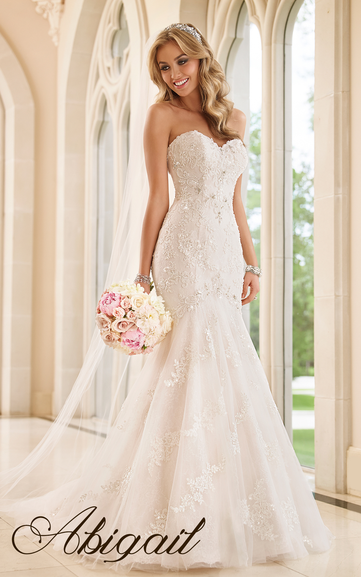 77c970bbcd Abigail – This fit to flare gown offers exquisite elegance with the  intricate beading and lace underlay. The fit on this gown is phenomenal and  the ...